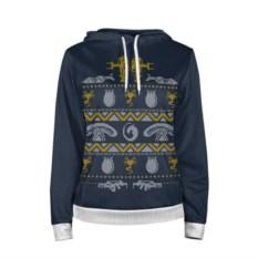 Женская толстовка Новогодний свитер: чужой