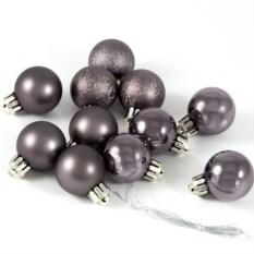 Набор ёлочных игрушек Темно-серебристые шары