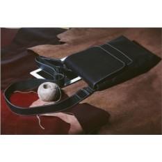 Кожаная сумка через плечо Brialdi Pigna (цвет — черный)