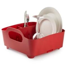 Красная сушилка для посуды Tub