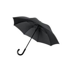 Черный зонт-трость антишторм Alessi