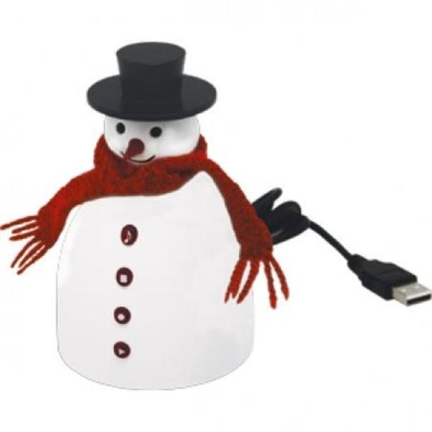 Музыкальный снеговик с диктофоном Поздравляю!