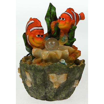 Фонтан декоративный Рыбки с подсветкой