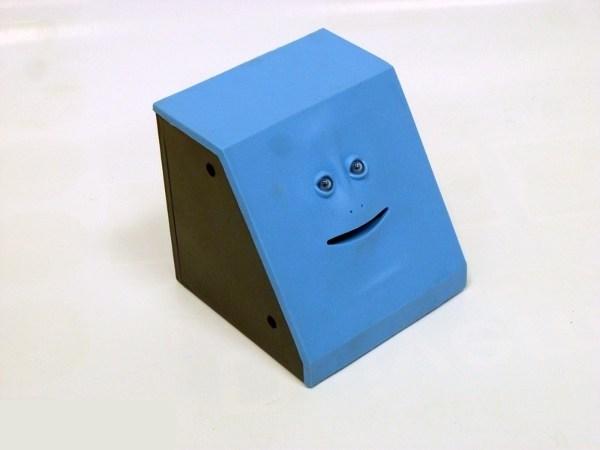 Интерактивная копилка Обжора (гладкий, синий)