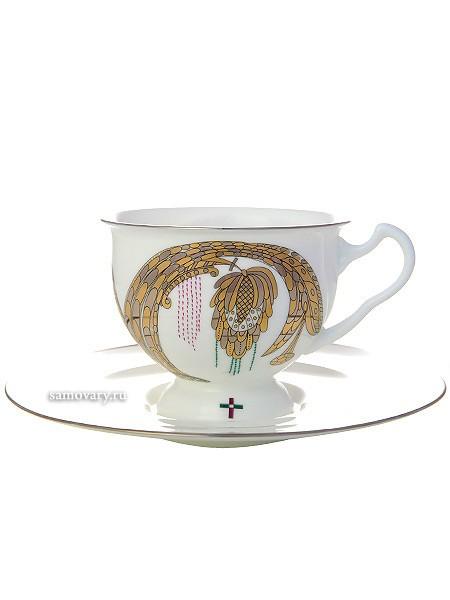 Фарфоровая чайная чашка с блюдцем Навсегда вместе 2