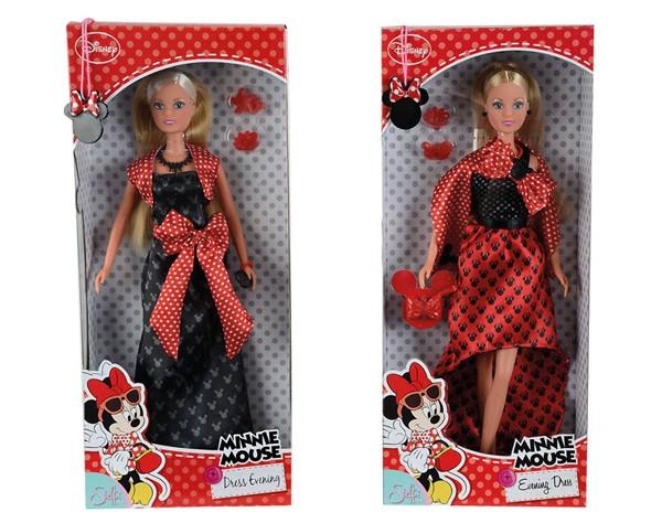 Кукла Штеффи minnie mouse в вечернем наряде