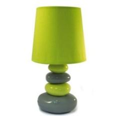 Зеленый светильник с основанием в виде 4 камней