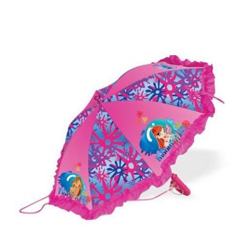 Детский зонт - трость WINX полуавтоматический