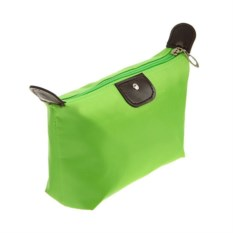 Косметичка-сумочка на молнии (цвет: зелёный)
