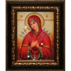 Икона Божией Матери Семистрельная с камнями Swarovski