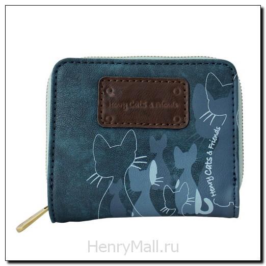 Портмоне с молнией Henry Cats and Friends Logo I