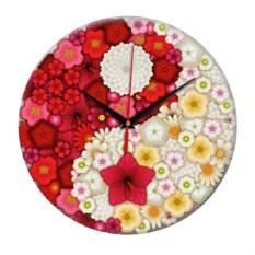 Настенные часы Инь-Янь Цветы