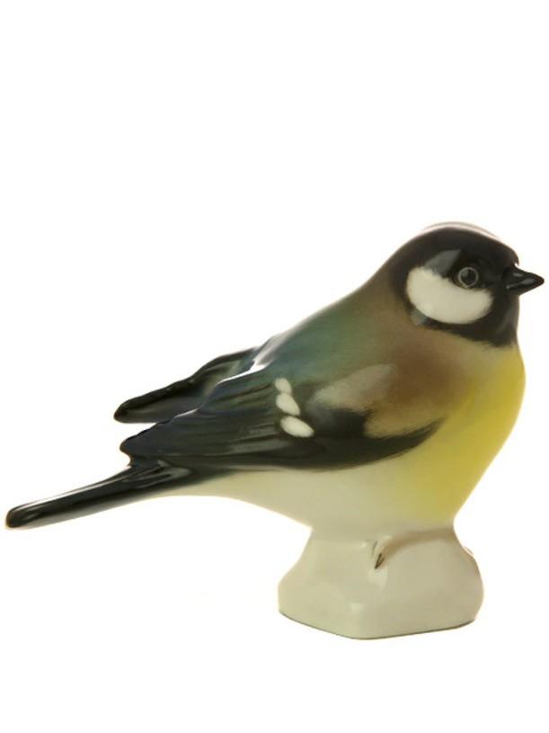 Фарфоровая статуэтка Синица черноголовая