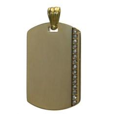 Золотистый жетон с вертикальной полосой страз