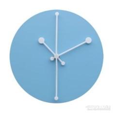 Настенные голубые часы Dotty