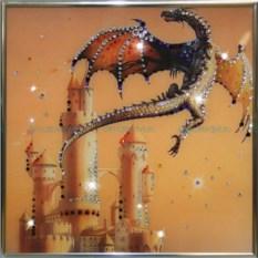 Картина с кристаллами Swarovski Сокровища Дракона