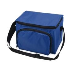 Синяя сумка-холодильник на молнии на 3 литра