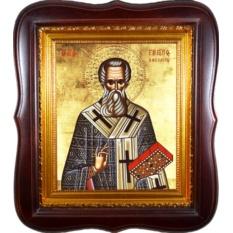 Григорий Богослов Святитель. Икона на холсте.