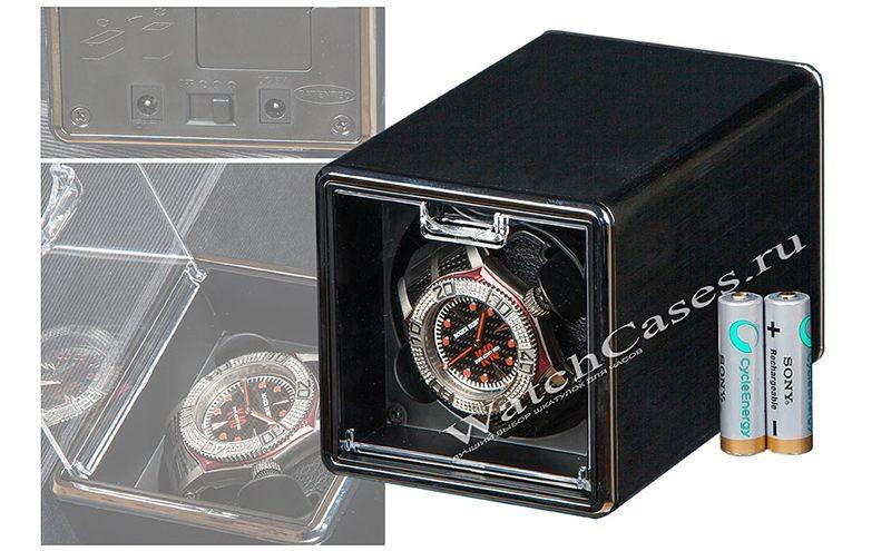 Шкатулка для подзавода 1-х часов Vicstar, черная