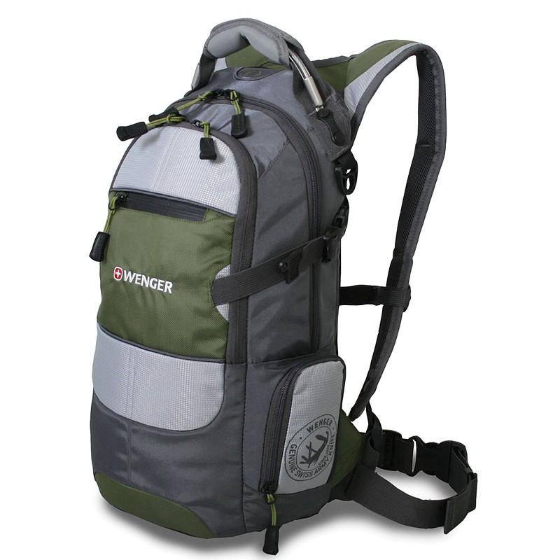 Рюкзак Wenger, полиэстер 210D PU, 23х18х47 см; Цвет: зеленый