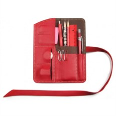 Пенал кожаный Artskill mini (красный)