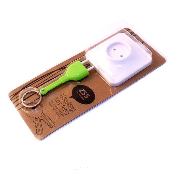 Держатель для ключей «Розетка» (зеленая вилка)