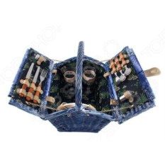Синяя корзина для пикника