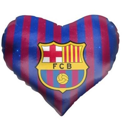 Подушка в форме сердца Барселона