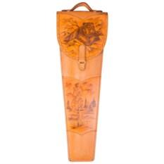 Подарочные шампура Бурый медведь в колчане из кожи