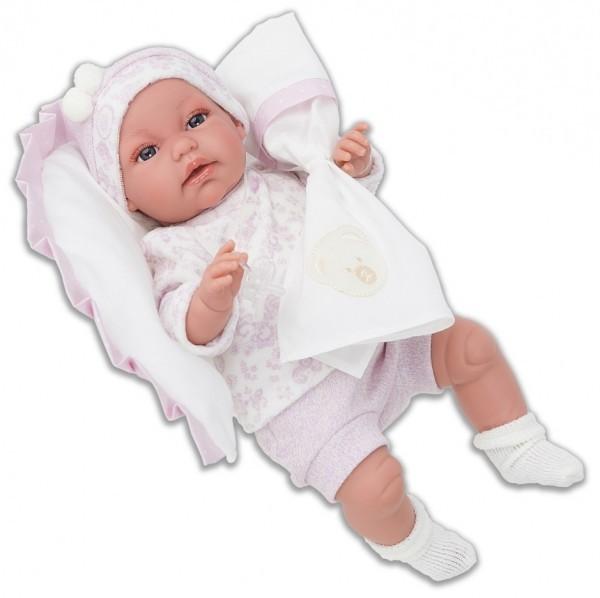 Озвученная кукла-младенец Мара в розовом