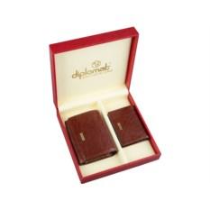 Набор Diplomat: дамское портмоне, визитница Diplomat