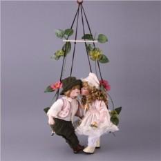 Набор из двух фарфоровых кукол с мягконабивным туловищем