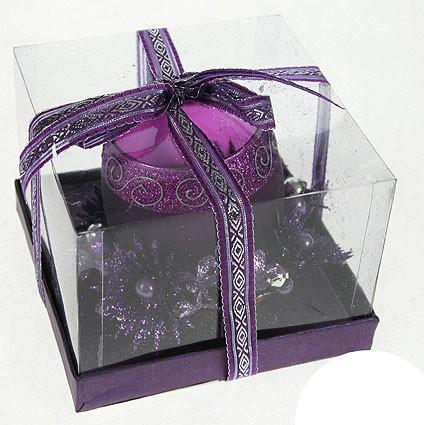 Подсвечник Пурпурный блеск, на 1 свечу