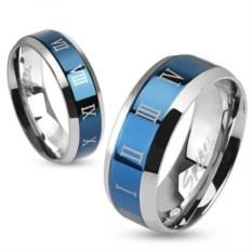 Парные кольца из стали с римскими цифрами Spikes