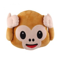 Подушка Emoji Monkey Can't Hear