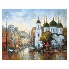 Картины по номерам «Вид на Сухаревскую площадь»