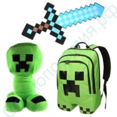 Набор из рюкзака и игрушек Майнкрафт