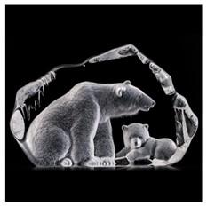 Скульптура Медведь с медвежонком