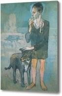 Репродукция картины Мальчик с собакой  Пикассо