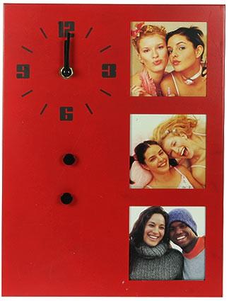 Часы-фоторамка на 3 фото