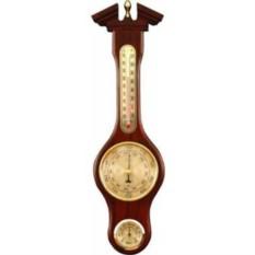 Метеостанция-барометр. Цвет — махагон