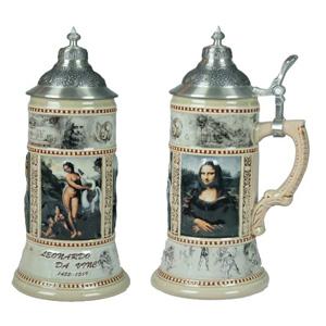 Пивная кружка «Леонардо Да Винчи»  с крышкой