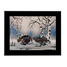 Картина из кристаллов Swarovski «Тетерева»