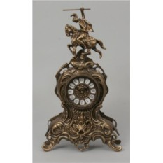 Бронзовые каминные часы Всадник