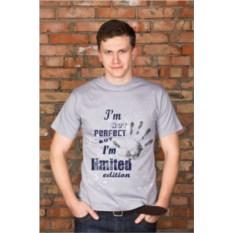 Серая мужская именная футболка Limited