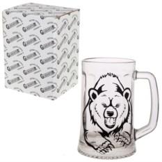 Кружка для пива в упаковке Медведь
