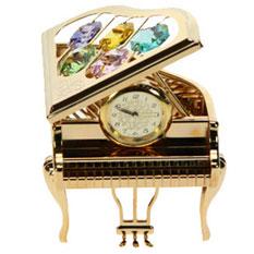 Декоративная фигурка с часами «Рояль»