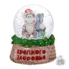 Снежный шар Обезьянка с лыжами