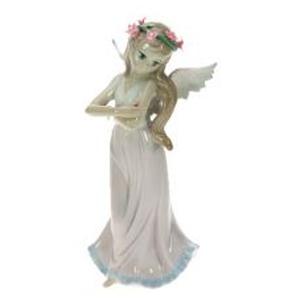 Фигурка декоративная Девочка-ангел, фарфор