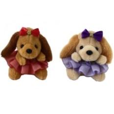 Мягкая игрушка-брелок Собачка в юбочке и с бантиком
